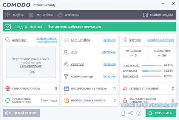 Comodo Internet Security на русском языке