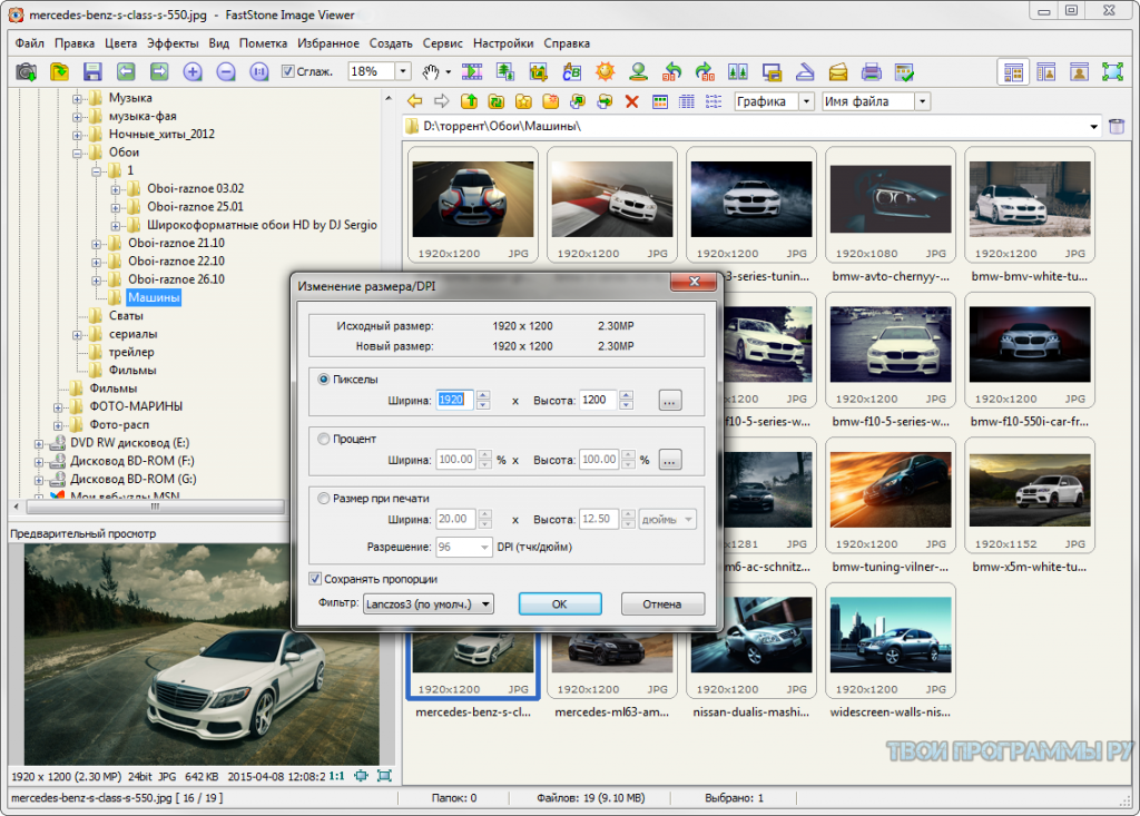 FastStone Image Viewer для windows