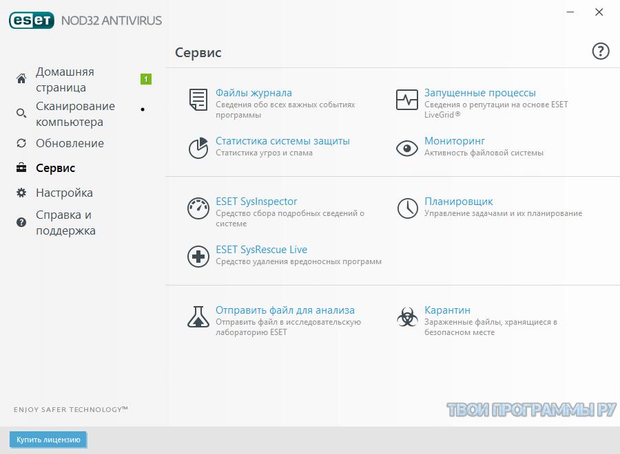 ESET NOD32 Antivirus для windows
