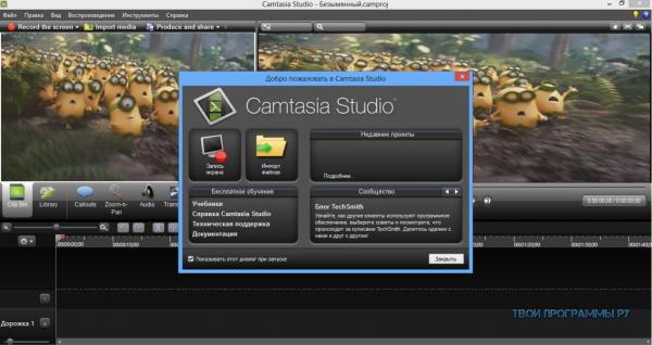 Camtasia Studio русская версия