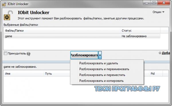 IObit Unlocker для windows
