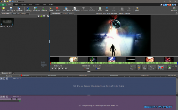 VideoPad Video Editor русская версия