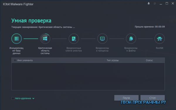 IObit Malware Fighter на русском языке