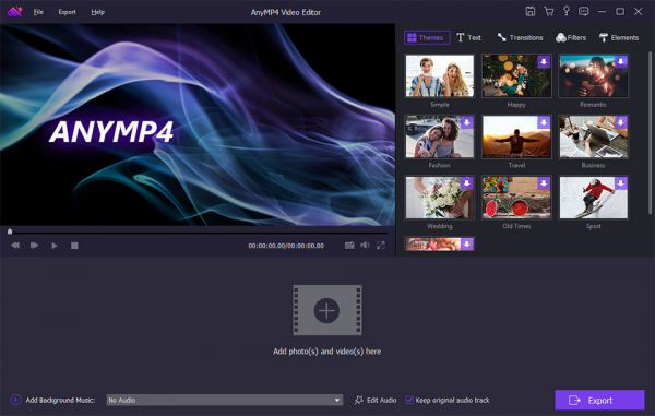 AnyMP4 Video Editor новая версия