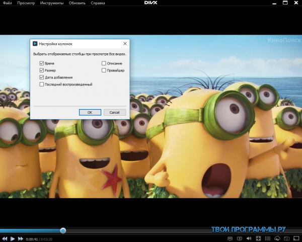 DivX Player новая версия